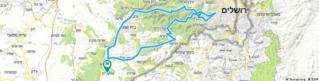 צפרירים-צור הדסה-ירושלים-צובה-צפרירים