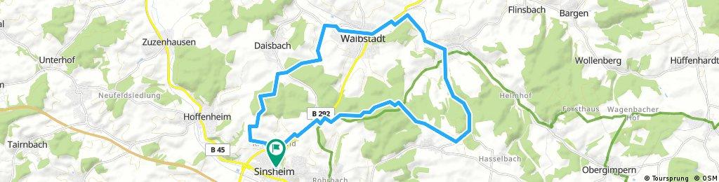 Radrunde durch Sinsheim