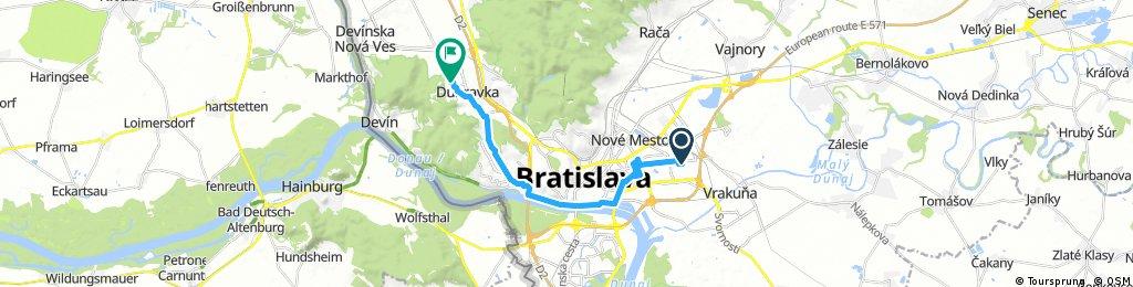 ride through District of Bratislava IV