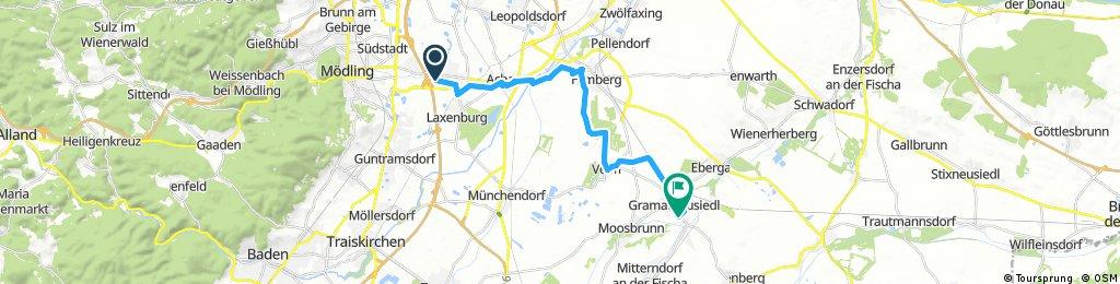 Ausfahrt von Biedermannsdorf nach Gramatneusiedl