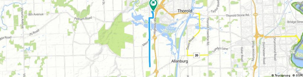ride through Thorold