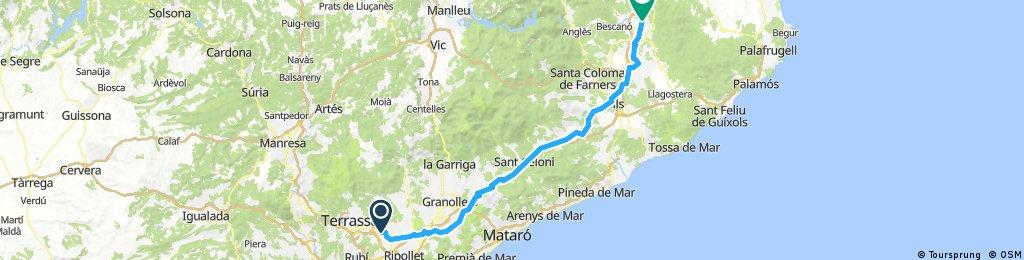 ÖstlichePyrenäen2017_Sabadell-Girona : zu viel Verkehr