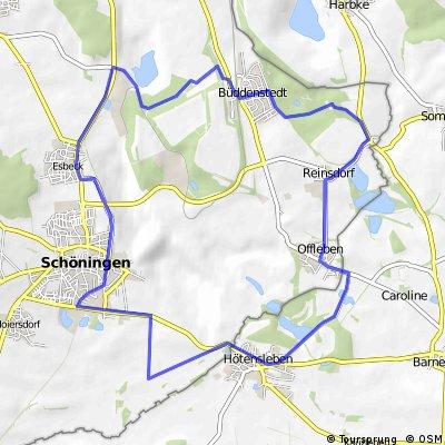 Schöningen-Wulfersdorfer Tagebau-Grenze