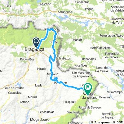 Bragança- rio de Onor - Miranda do douro