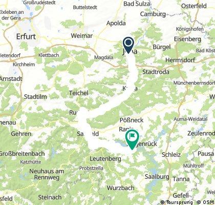 4 SaaleRadweg Jena nach Altenbeuthen