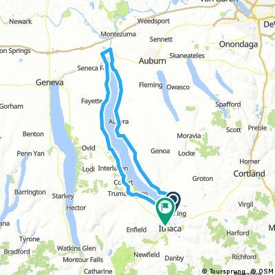 Around Cayuga Lake Ithaca start
