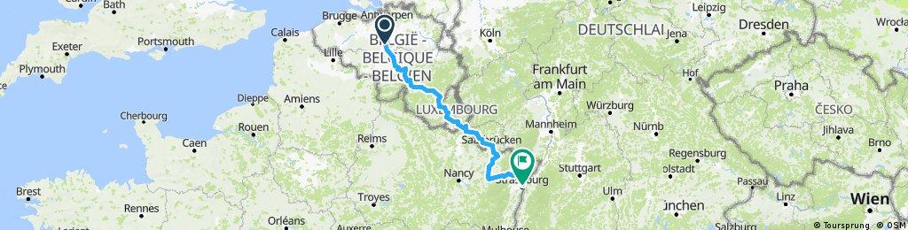 Eurovelo (Leg 1) - Brussels to Strasbourg