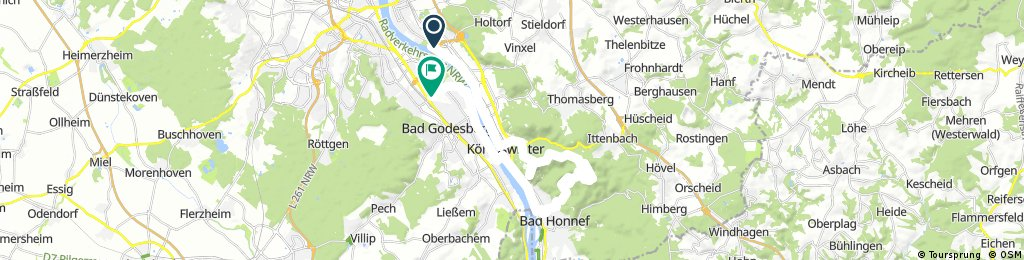 Lange Ausfahrt durch Bonn