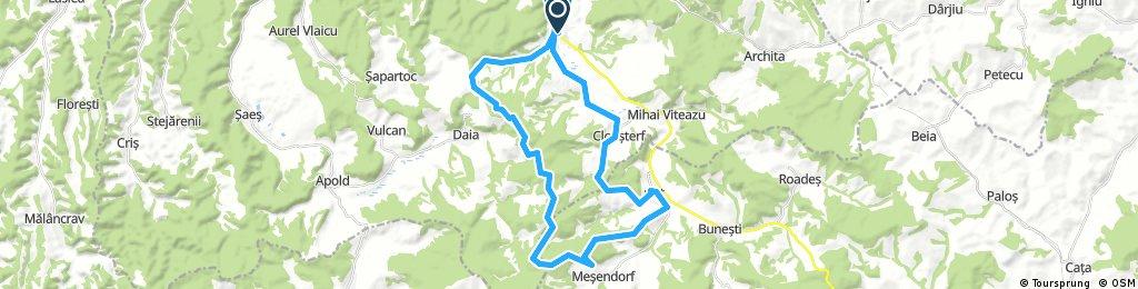 Long bike tour through Saschiz