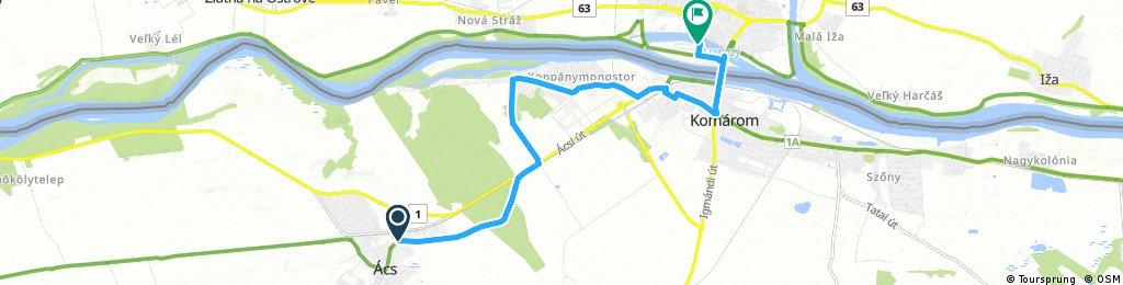ride through Komárno