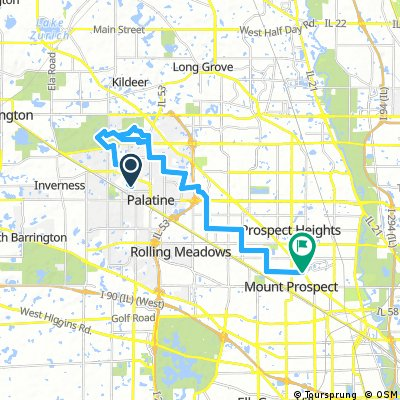 Palatine to Mt Prospect (easy)