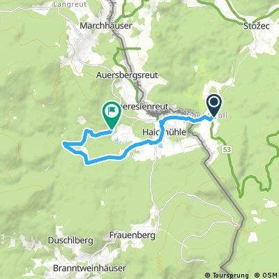 Nové Údolí - začátek Studené Vltavy