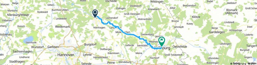 Aller Radweg Celle-Wolfsburg