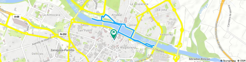 Quick ride through Zaragoza