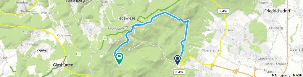 ride from Oberursel (Taunus) to Königstein im Taunus