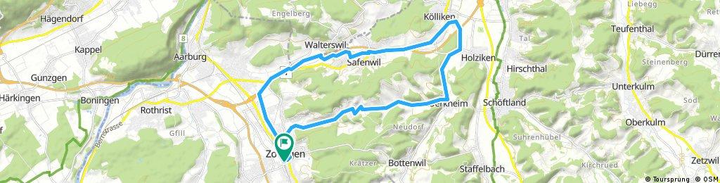 Mühlethal, Uerkheim, Kölliken, Safenwil, Zofingen