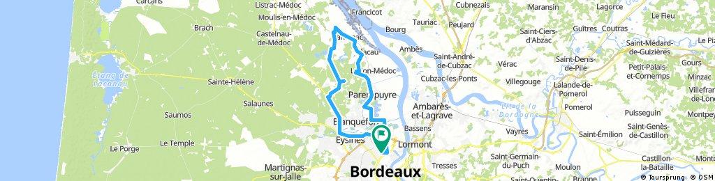 Lengthy bike tour through Le Bouscat