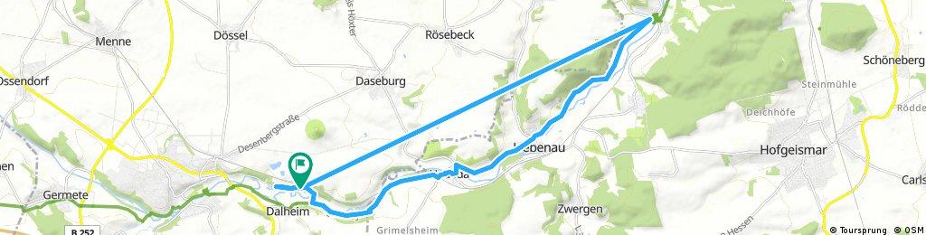 Ausfahrt durch Warburg