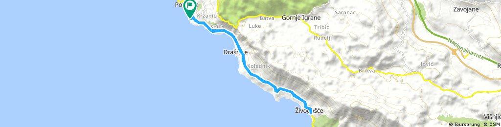 bike tour through Podgora