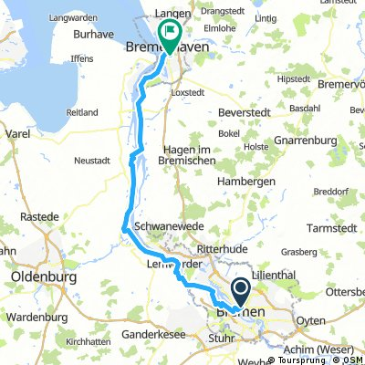 Weser Radweg Bremen-Bremerhaven