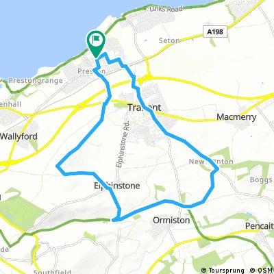 bike tour through Prestonpans
