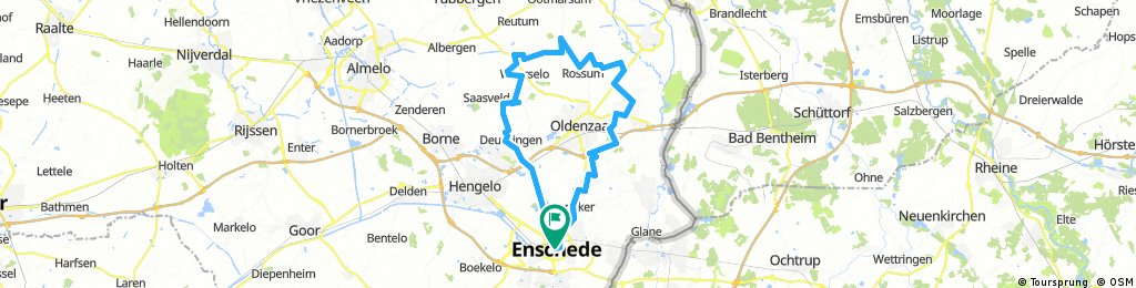 Windy ride around Oldenzaal