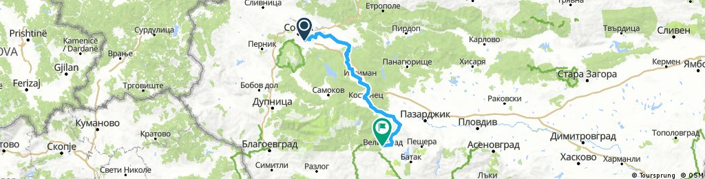 Bulgaria Mountain Tour  2017 - Day 1