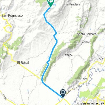 Lengthy ride from Santafé De Bogotá to Subachoque