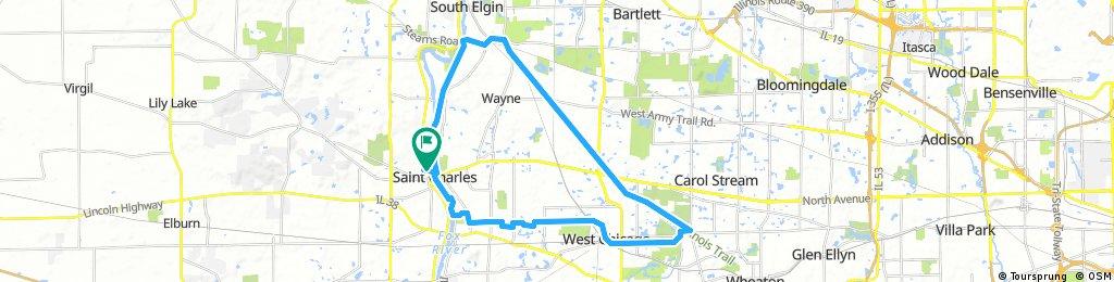 St Charles - West Chicago - Wayne (27mi)