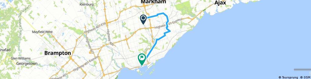 Lengthy bike tour through Toronto