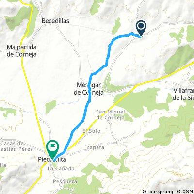 bike tour from Bonilla de la Sierra to Piedrahíta