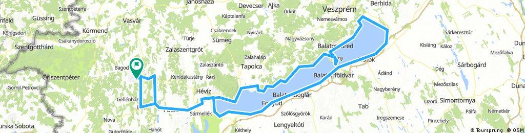 Balaton körút terv