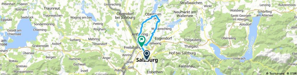 Sbg, Elixhausen, Obertrum, Variante Haunsberg, Anthering, Bergheim, Sbg