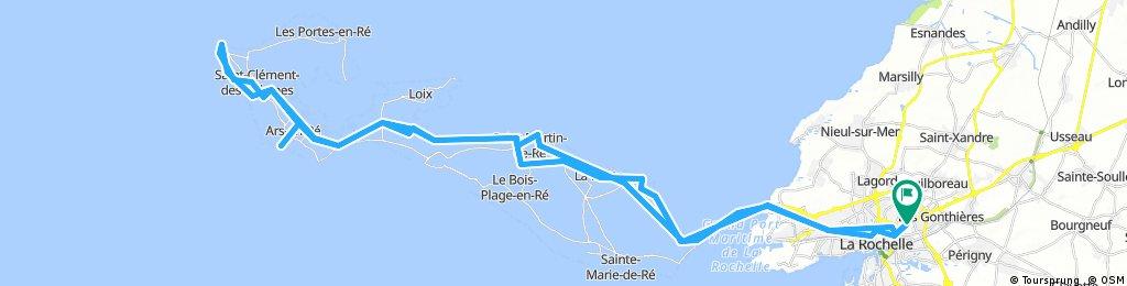 La Rochelle to Ile de Re lighthouse return