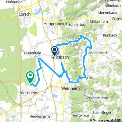 Trainingsstrecke V-Card Triathlon Viernheim