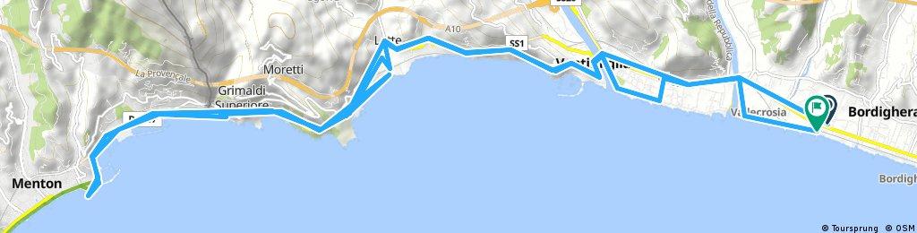 bike tour through Bordighera