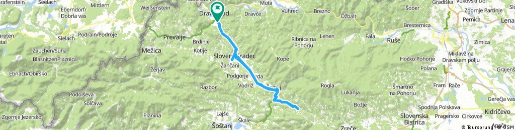 štrekna Lengthy ride through Dravograd
