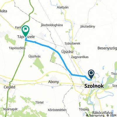Szolnok - Tápiószele földutakon. Montival.