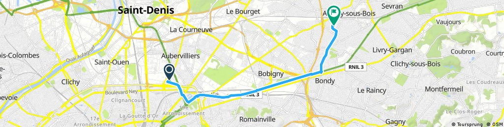 ride through Aulnay-sous-Bois