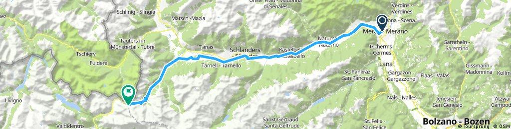 Merano- Prato allo Stelvio- Passo dello Stelvio