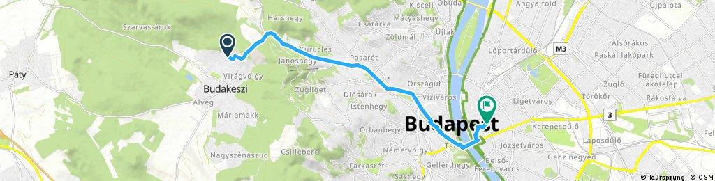 bike tour through Budapest