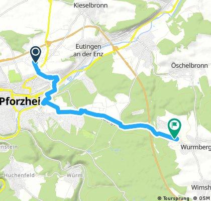 Radrunde von Pforzheim nach Wurmberg