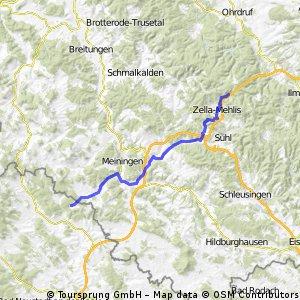 Von Oberhof (Bahnhof) nach Völkershausen