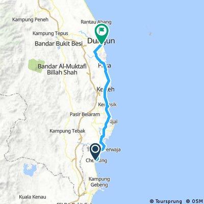 Lengthy ride from Sungai Karang to Dungun