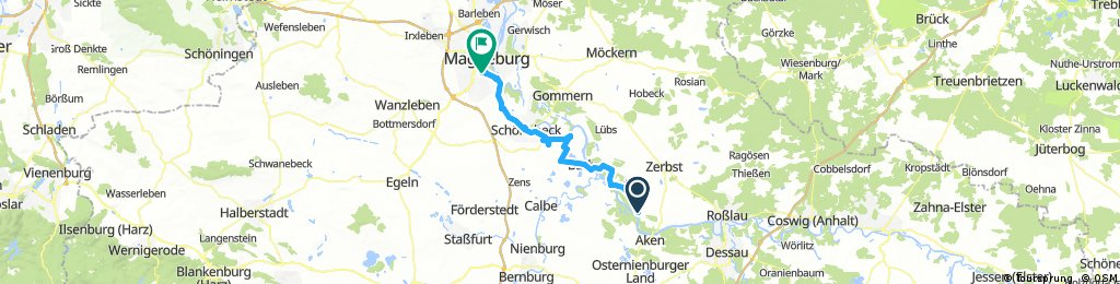 Steckby nach Magdeburg