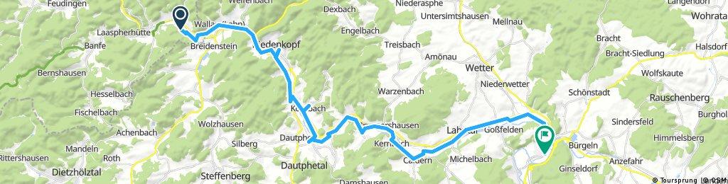 Lange Radrunde durch Cölbe   Lahntour von Bad Laasphe nach Cölbe