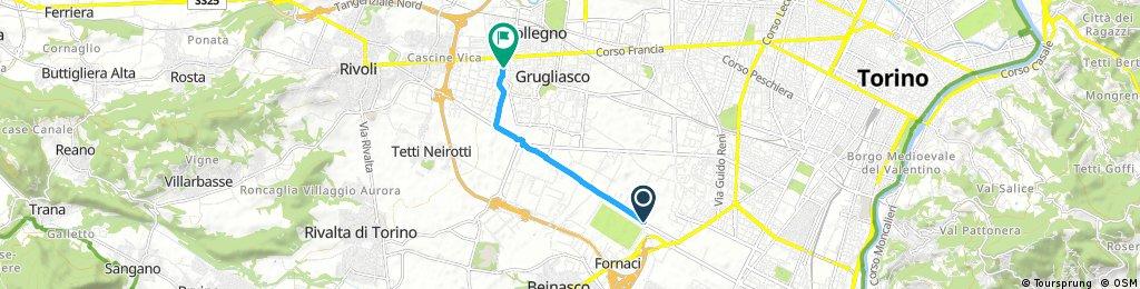 Brief bike tour through Collegno