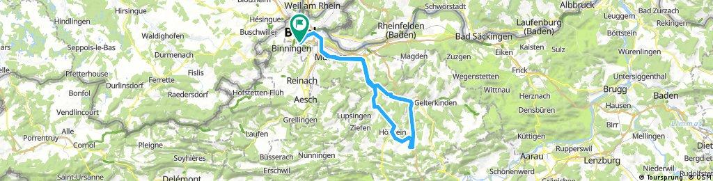20170822 Birsfelden-Sissach-Diegten-Hölstein-Liestal-Birsfelden