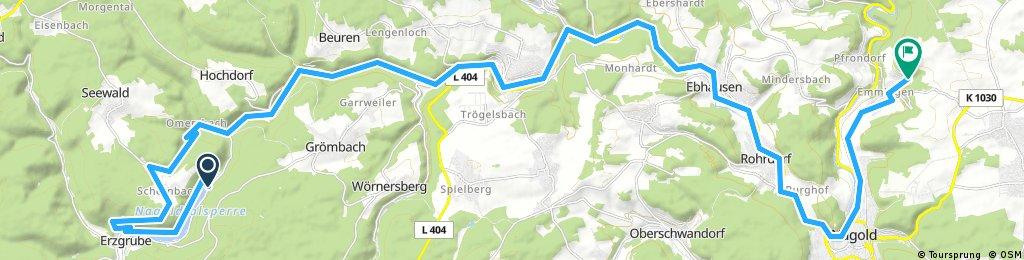 Lange Radrunde von Grömbach nach Nagold