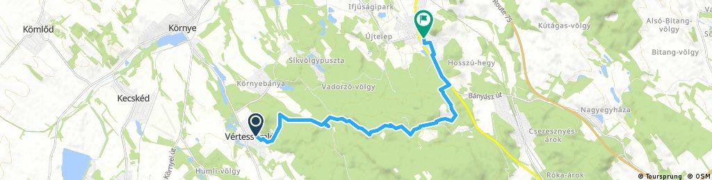 bike tour from Vértessomló to Tatabánya